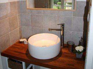 le pressoir -double room- moulin de lonçeux-bed and breakfast-bathroom