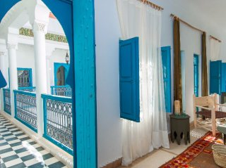 accès chambre triple riad chamali médina marrakech Maroc