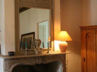 le meunier-double room-moulin de lonçeux-B&B- eure et loir-fireplace