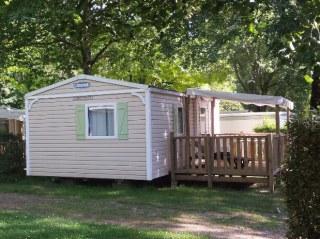 Mobile home Famille camping de retourtour 3 étoiles bord de rivière ardèche verte