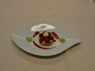 Sablé Breton, Mousseline pistache et fraises de Pays