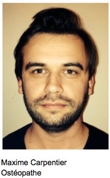 Maxime Carpentier osteopathe