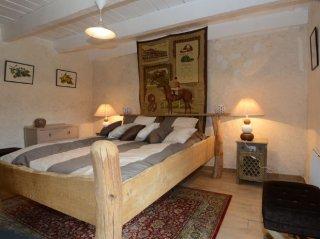 Gîte Chez Manu chambre lit