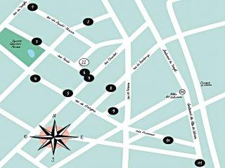 plan adresses studio 22 Marais Lille