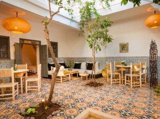 patio aux orangers  riad chamali médina marrakech maroc