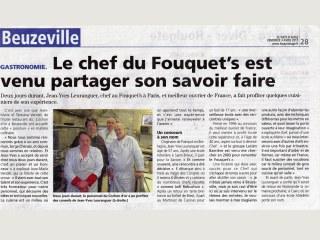 Avec Jean-Yves Leuranguer chef du fouquet's