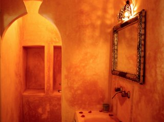 salle de bain-riad chamali-chambre double standard -marrakech - maroc