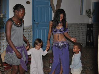 dance entertainment at night - riad chamali - marrakech - morocco