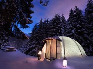 Lodge couple Altipik de nuit