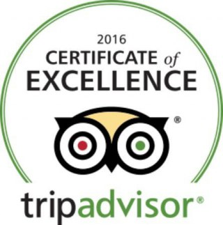 Certificate of Excellence Trip Advisor 2016