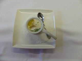 Tortellini d'araignée de mer, crème de courge Buternut.