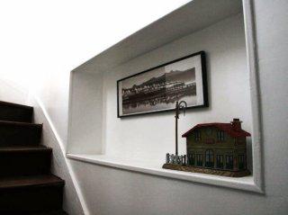 le gîte de la petite gare-hébergement-chambre d'hôtes-garnet-eure et loir-escalier