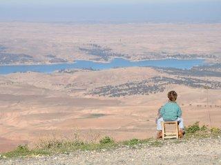 view on the lake lala taterkoust - marrakech - morocco- riad chamali