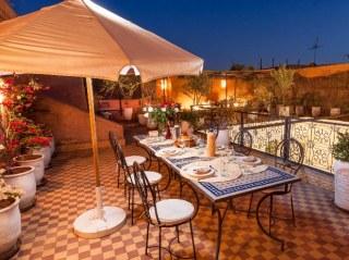 diner sur la terrasse du riad chamali - Marrrakech - medina
