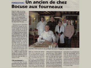Avec Jean Marc Tachet Meilleur Ouvrier de France ancien de chez Paul Bocuse