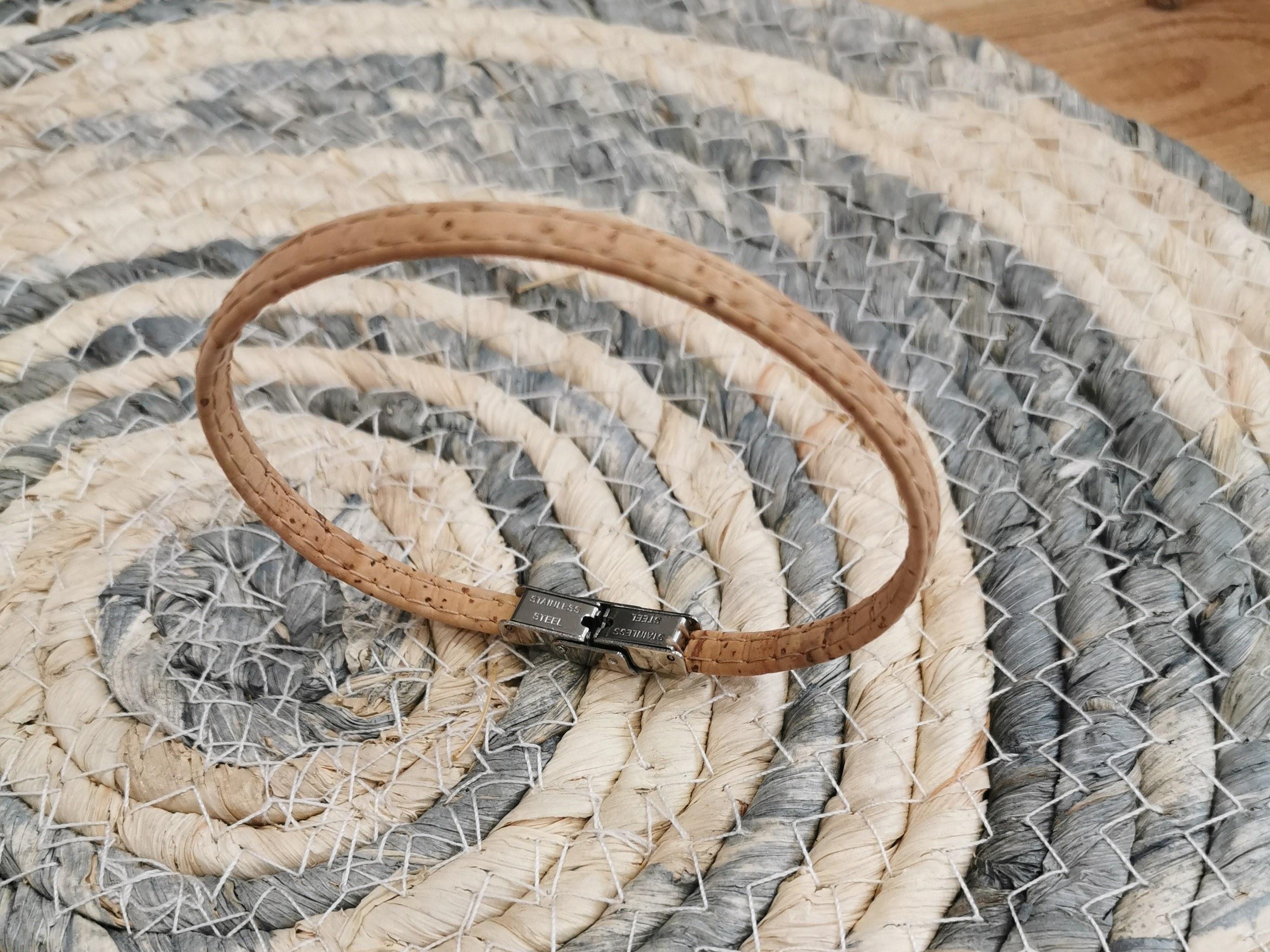 bracelet en liège naturel mixte couleurs d'hélène