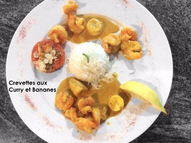 Crevettes aux bananes