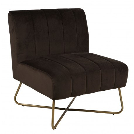 fauteuil alfred velour bronze