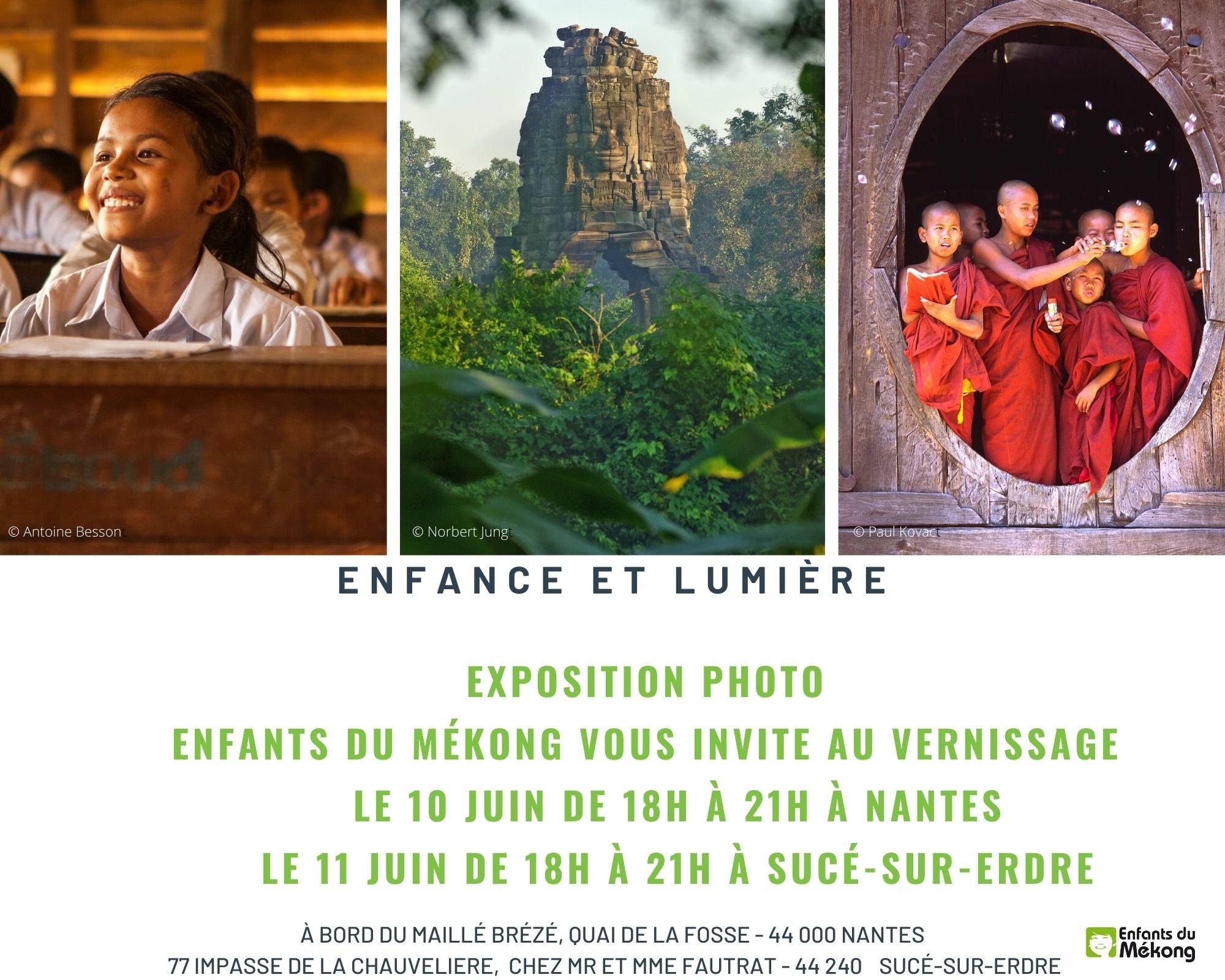 Invitation Vernissage Photo - Nantes et Sucé sur Erdre