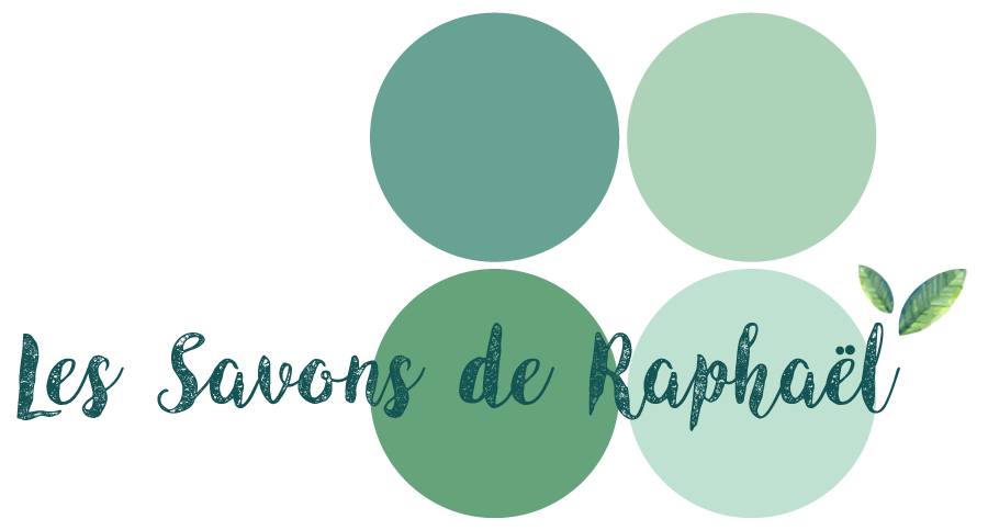 logo les savons de Raphaël, en Mayenne, savon bio artisanaux, shampoing,  baumes, déodorants, et dentifrices