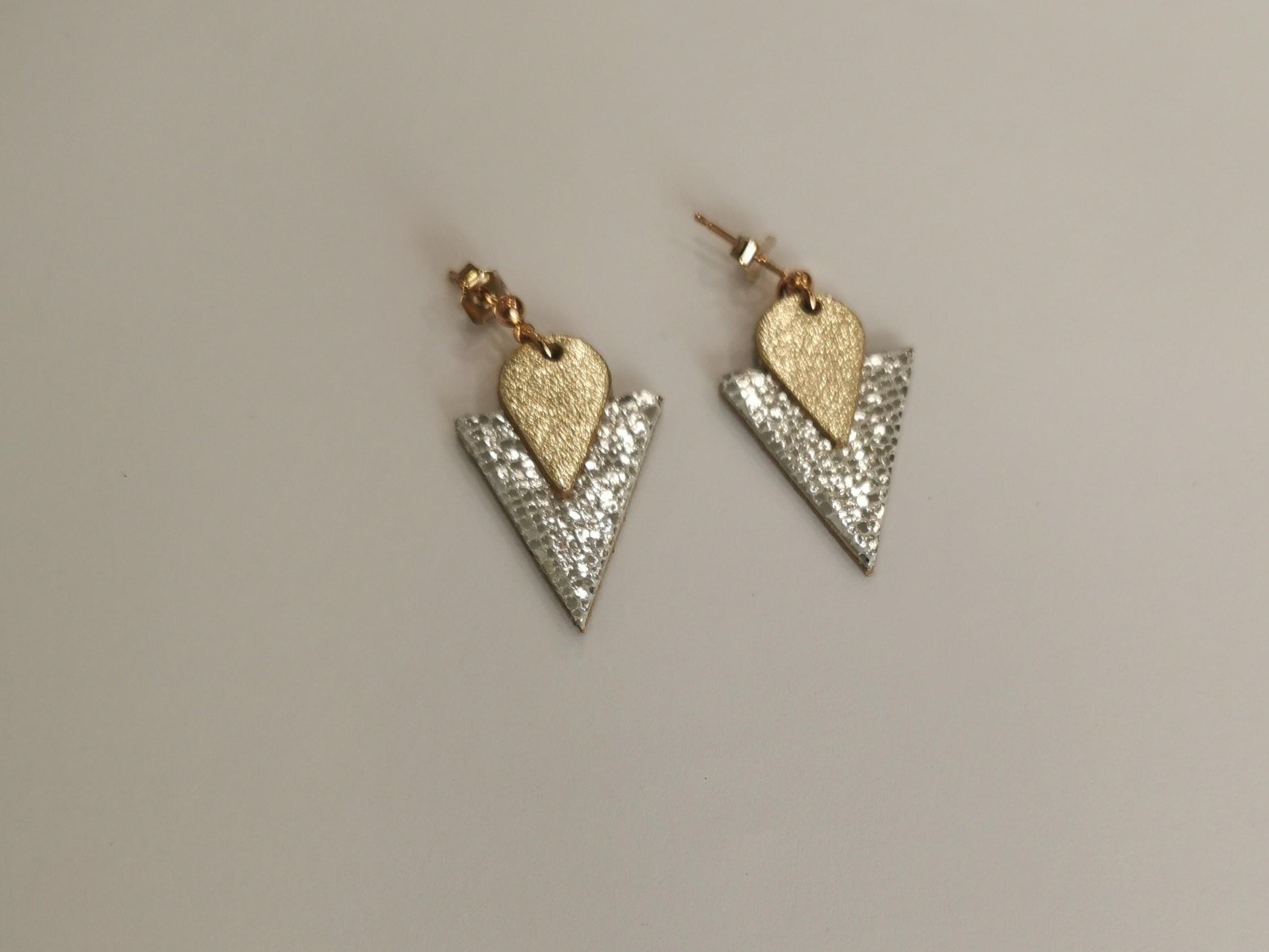boucles-d-oreilles triangle cristal de ni une ni deux