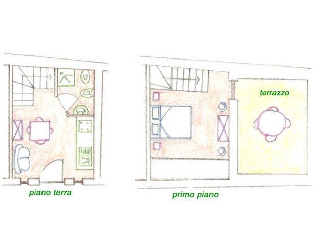 Presentazione della camera appartamenti casa di polluce de for Planimetrie della camera a castello