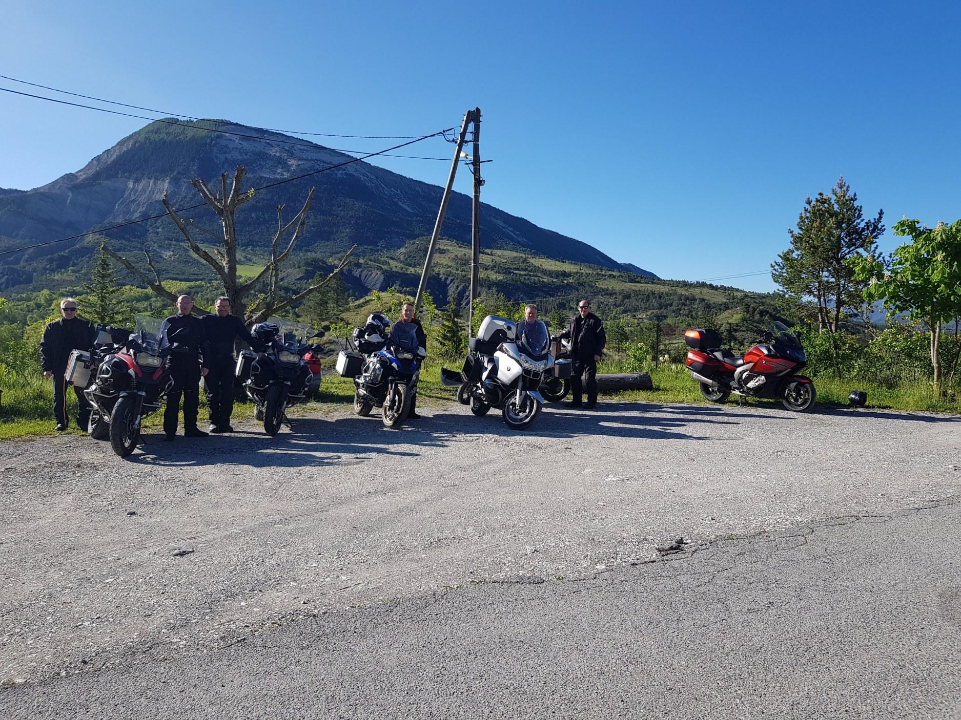 les motards au gîte