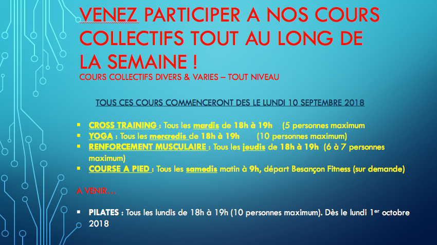 Besançon Fitness cours collectifs