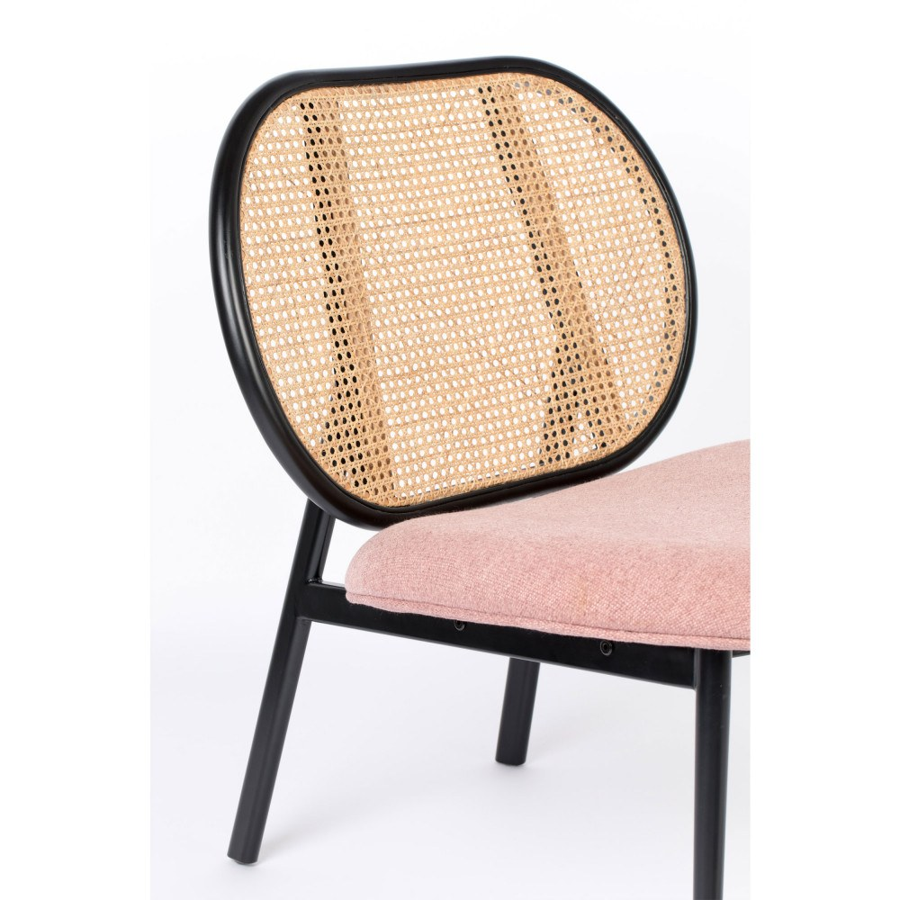 fauteuil lounge rose 6
