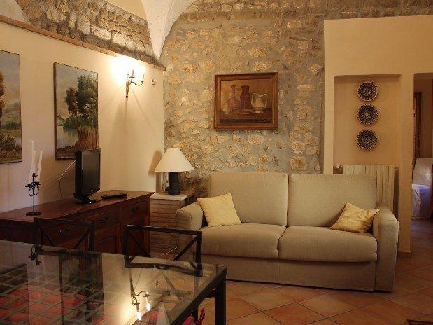 Castello Santa Margherita Appartamento Rifugio di Ercole Salotto