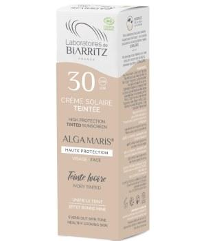 Crème solaire visage Teintée SPF30 ivoire - 50 ml