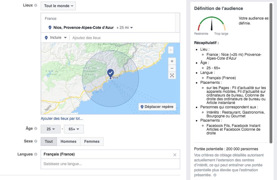 Facebook Ads c'est quoi audience