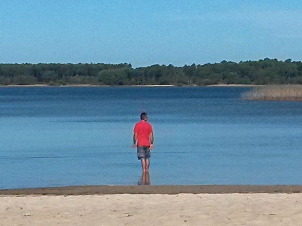 Le lac de Sanguinet ... en octobre !