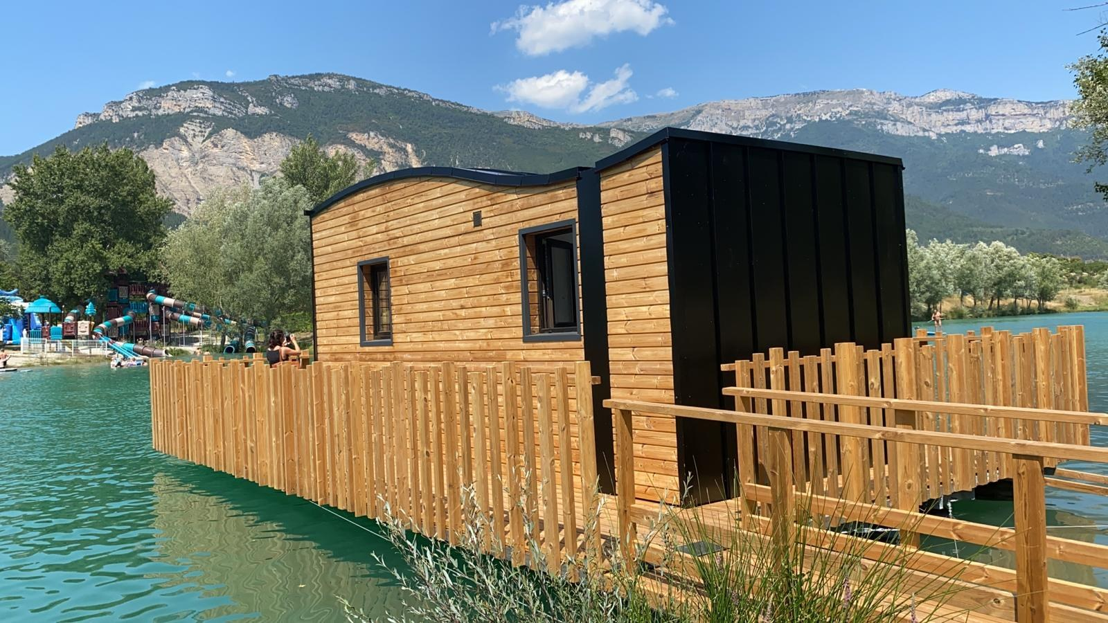 ilot bleu camping vercors drome piscine chauffée lac