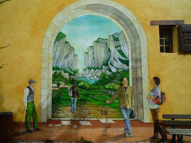 mur trompe l'oeil - verdon
