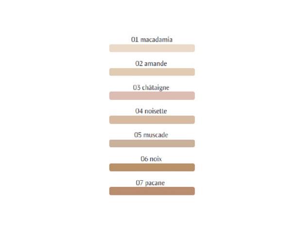 Les différentes teintes FDT Hauschka