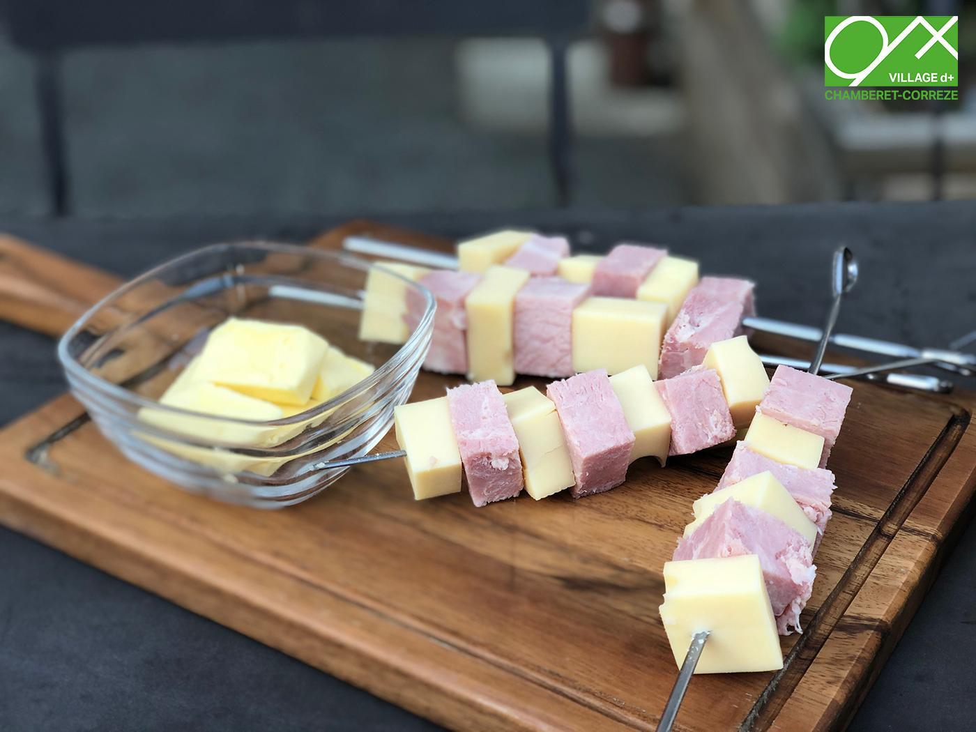 plateau jambon fromage village d+
