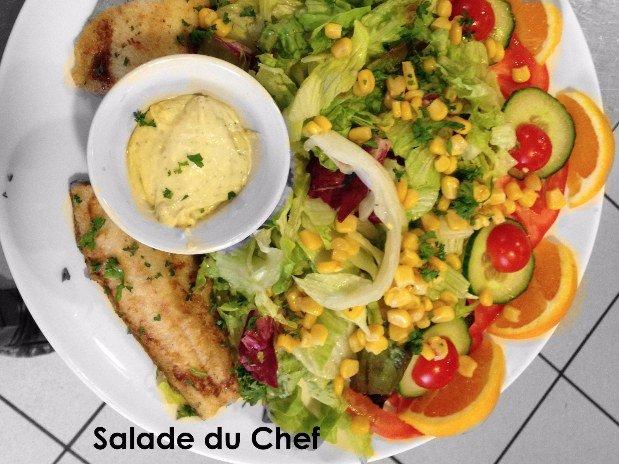 Salade du chef - restaurant maison monsieur - la chaux de fonds