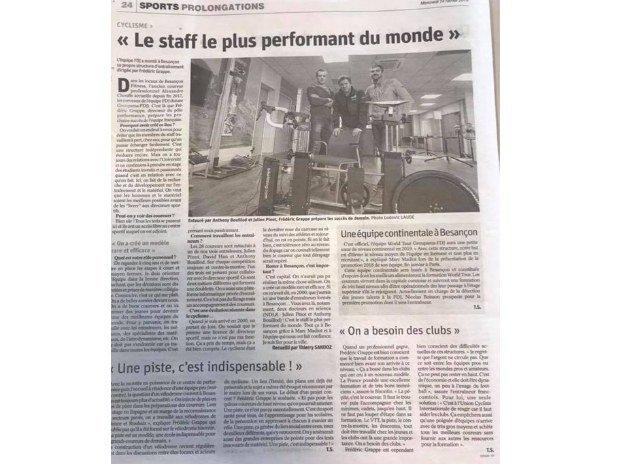 Equipe cycliste groupama fdj inside the athletes 3.0 besançon fitness