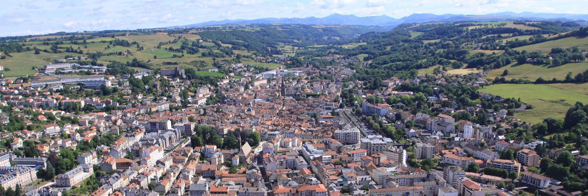 Vue sur Aurillac - Cantal - Qualys Aurillac Saint-Pierre