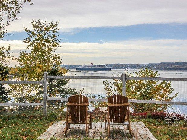 Vue sur la baie de Gaspé