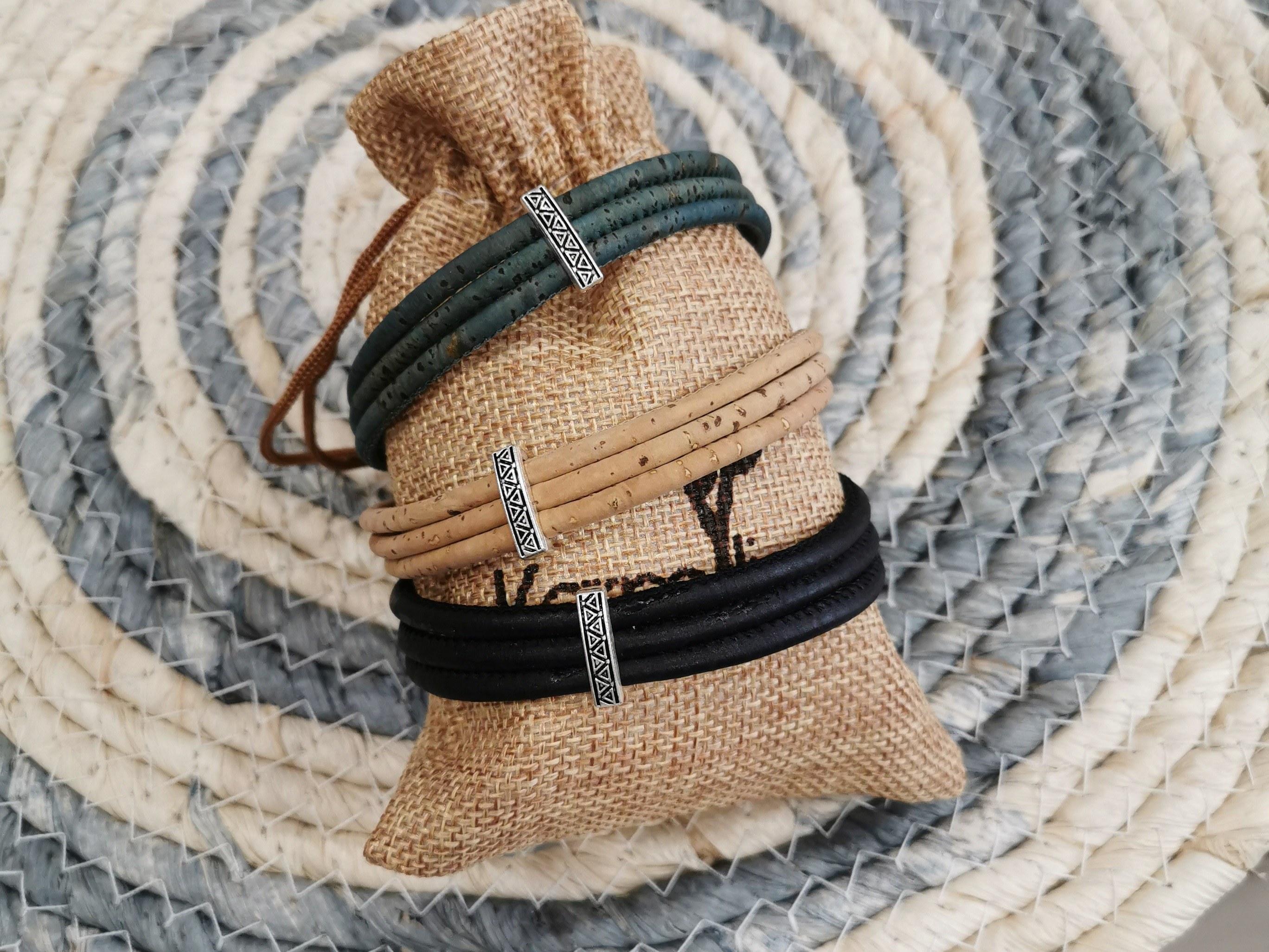 bracelet en liège homme couleurs d'Hélène