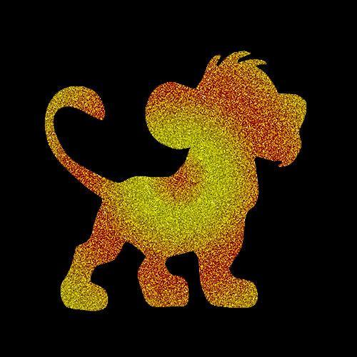 Pochoir lionceau