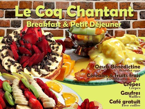 Restaurant Le Coq Chantant, à 10 Km. du Refuge C&S  Auberge Hotel