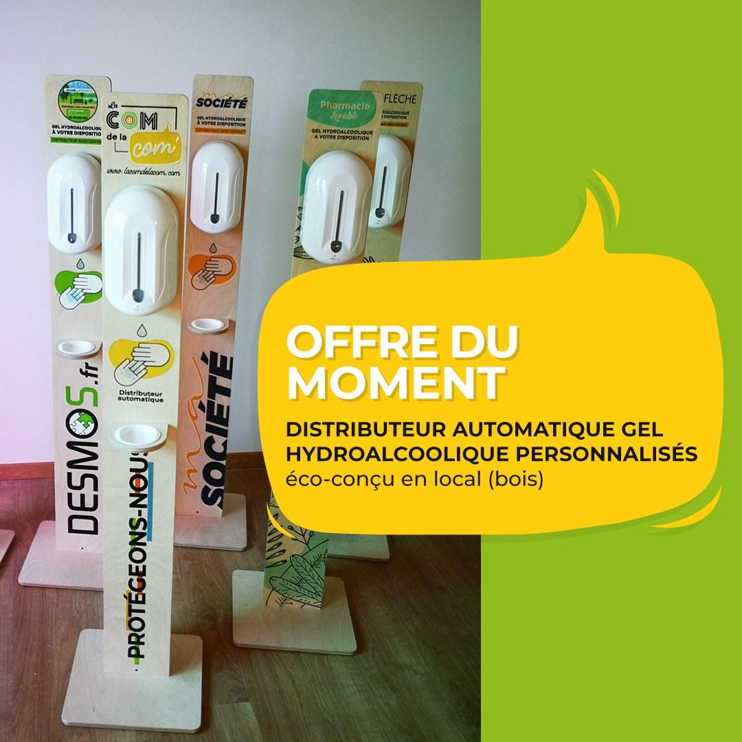 Distributeur automatique gel hydroalcoolique personnalisé