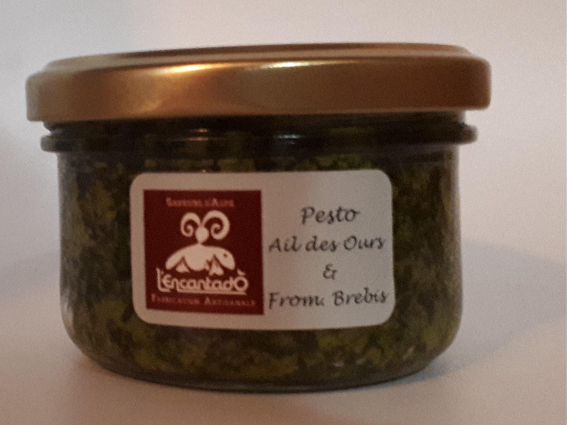 Art pesto ail des ours et fromage bredis