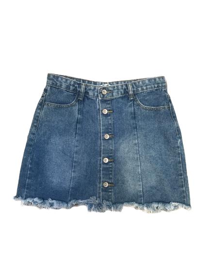 mini-jupe en jeans