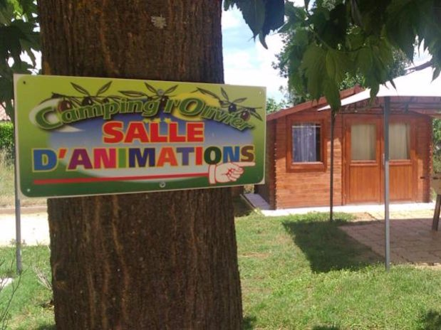 salle animation Camping L'olivier Anduze