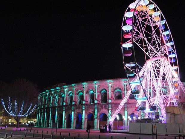 Nîmes à Noël