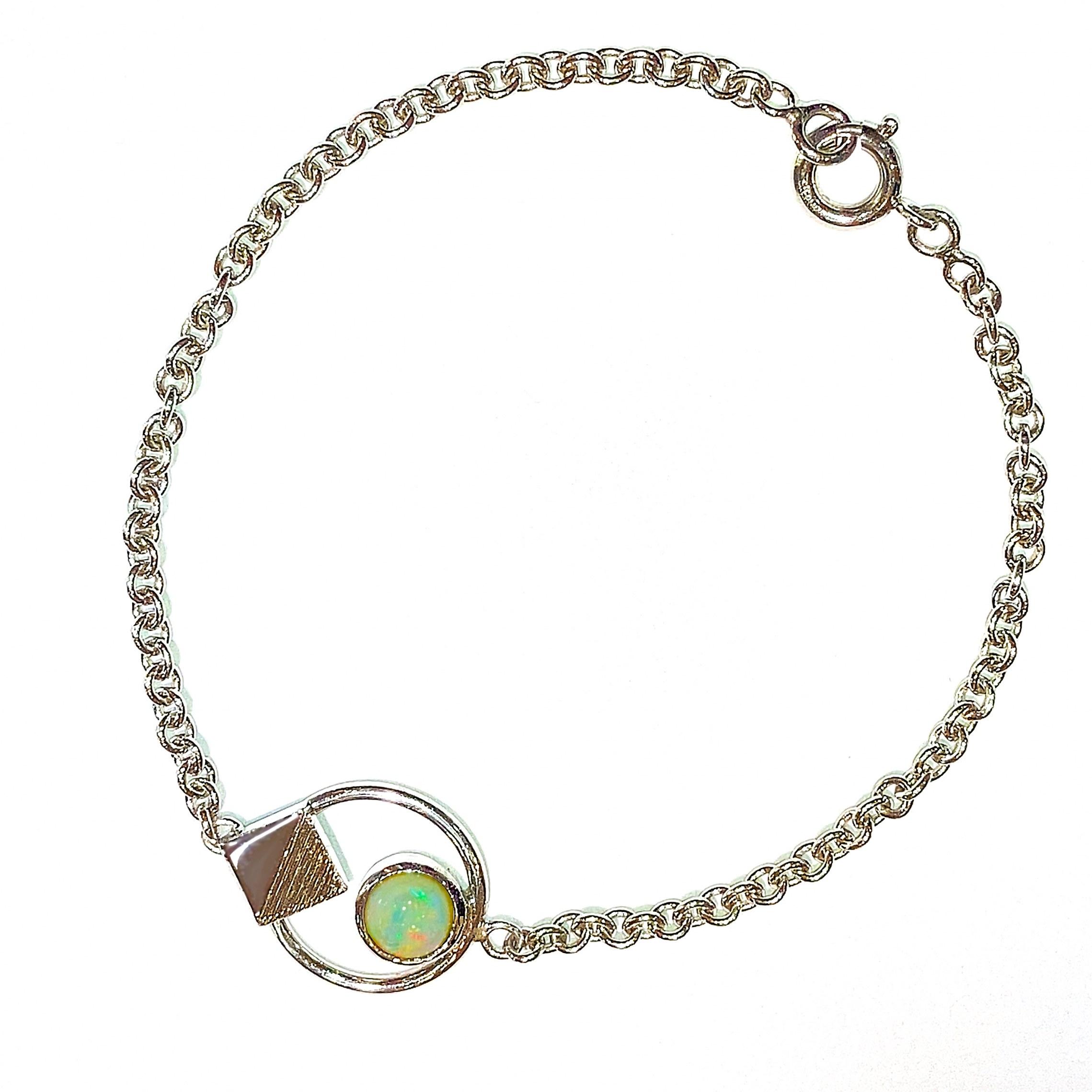 Manjo Bracelet argent Opale